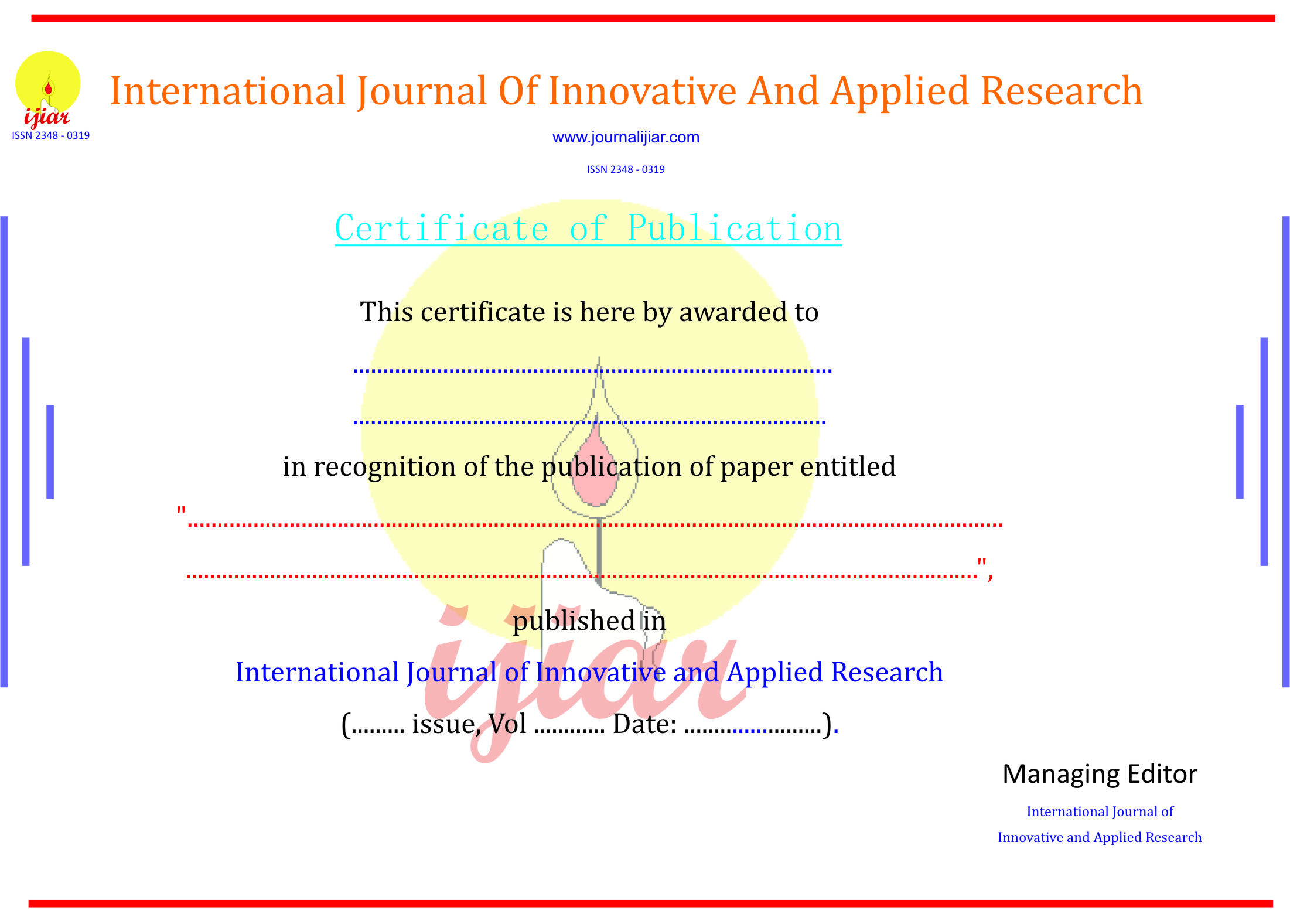 International Journal Of Innovative And Applied Research Ijiar